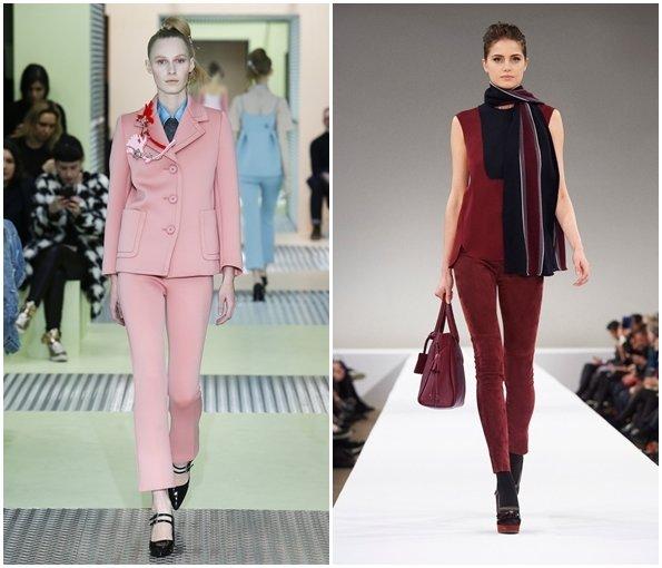 Модные укороченные женские брюки осень-зима 2015-2016
