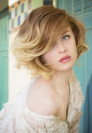 Омбре на короткие русые волосы