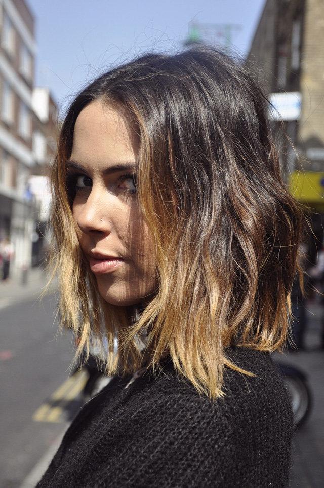 Омбре на короткие волосы - спереди 3
