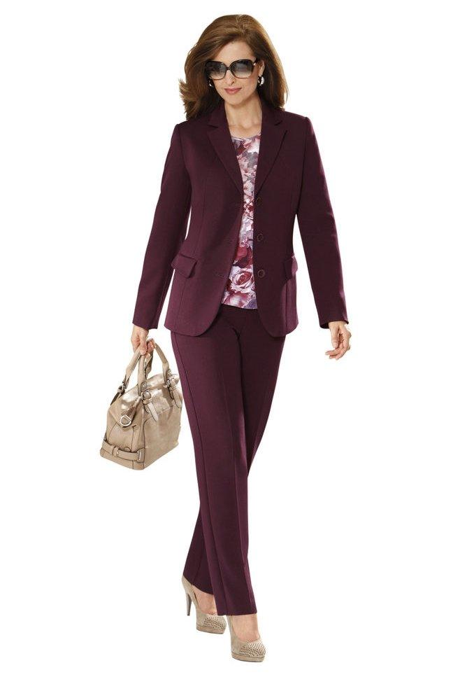 Пиджак + брюки (комплект). Цвет бордовый. Коллекция осень/зима 2015. Купить в интернет-магазине Laub за 12330 рублей.