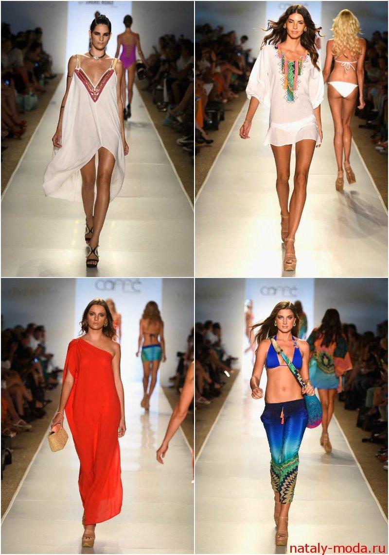 Платья, туники и другая пляжная одежда лето 2015