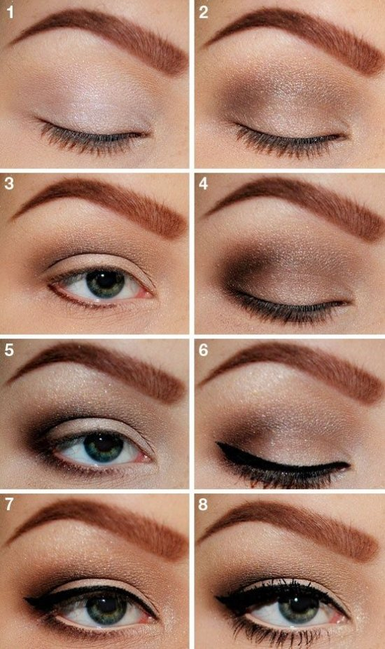 Повседневный макияж для зеленых глаз