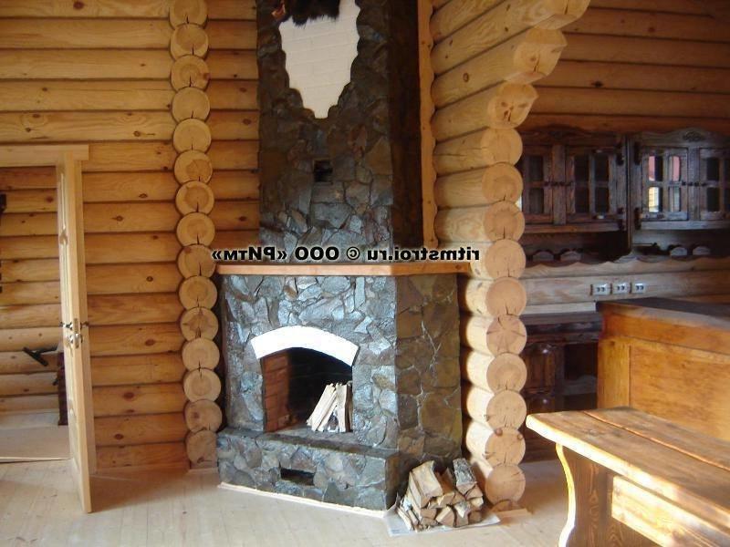 С камином ф деревянный дом..