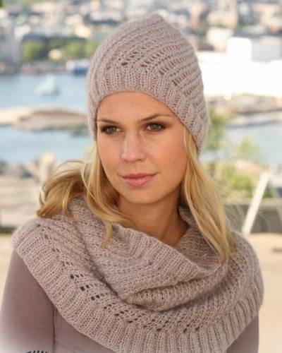 Симпатичная шапка с диагональным узором - Вязание женских шапок - Вязание шапок - Крючок и спицы - Схемы вязания