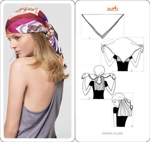 способы завязывания платков на голове