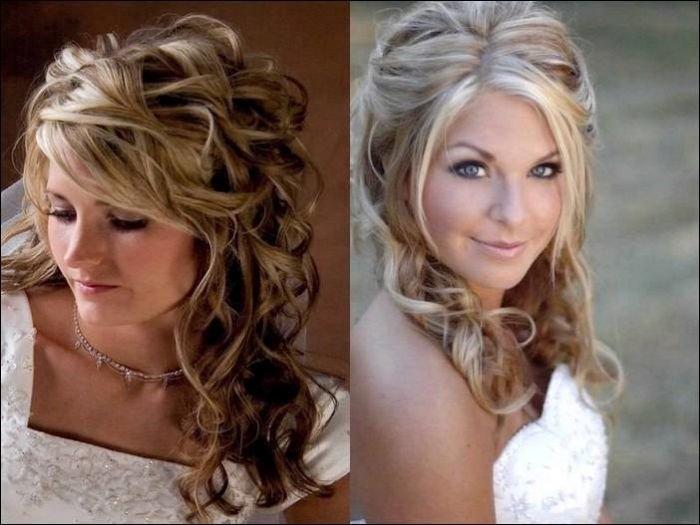 Свадебные прически на средние волосы (фото 2015) средней длины
