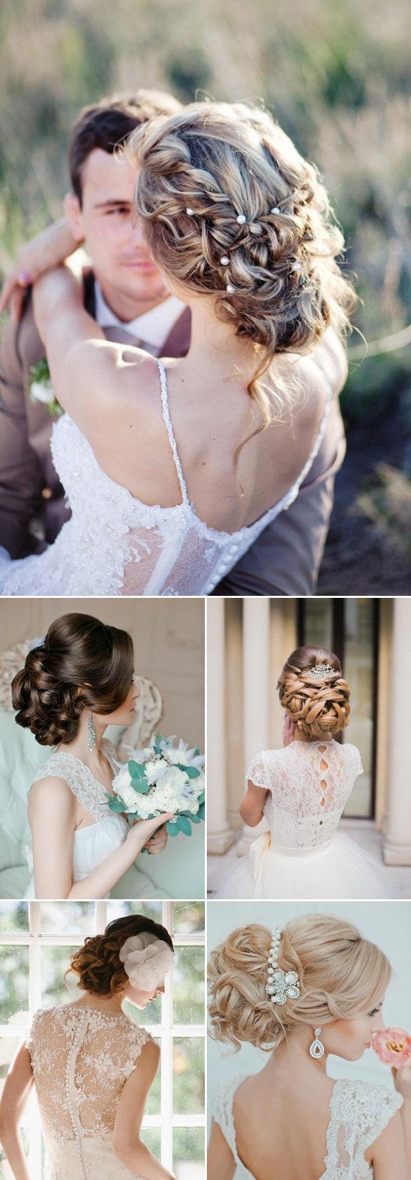 Свадебные прически с собранными волосами