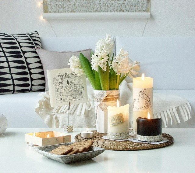 Свечи в декоре интерьера квартиры