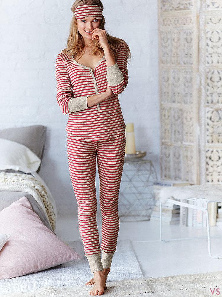 Теплая удлиненная пижама