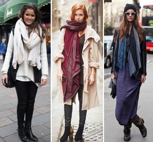 Уютный шарф