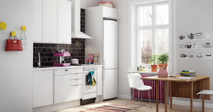 Украшаем стены на кухне