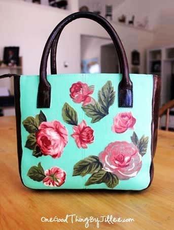 Винтажная сумка с розами своими руками (фото) | 4girls Винтажная сумка с розами своими руками (фото) : Мода, Школа, How to, Своими руками