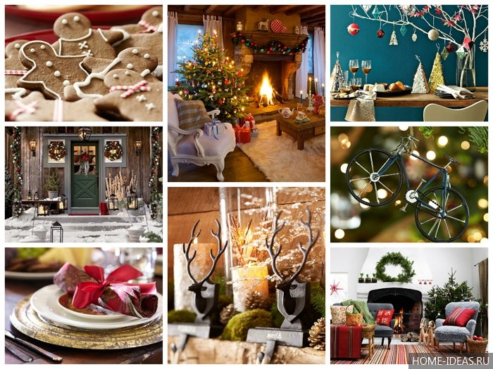 Зимний декор для дома: украшение окон и дверей, ёлка своими руками