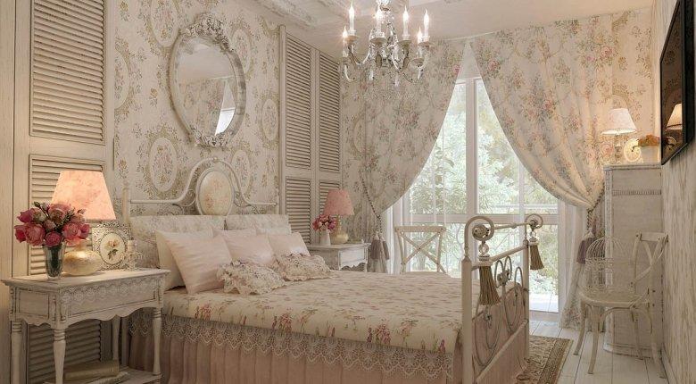 Для оформления спальни характерна многословность – огромное количество подушек и одеял.