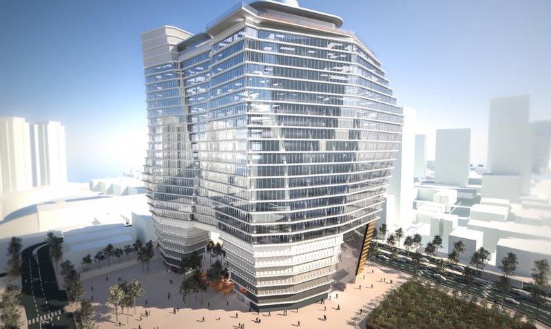Новый офисный комплекс, спроектированный студией Ron Arab Architects, вдохнет новую жизнь в скромную архитектуру Тель-Авива, а заодно станет самым высоким