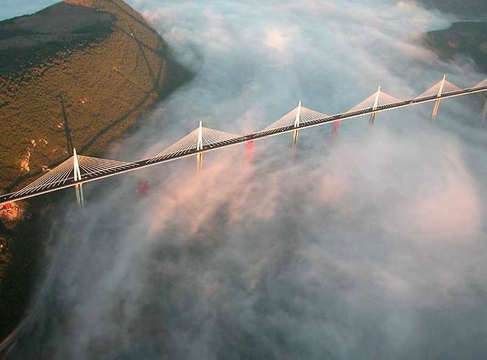 Самым высоким на данный момент является виадук Милло (Мийо) во Франции. Его высота — 343 метра,