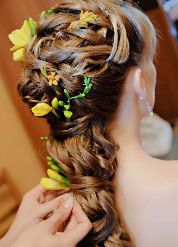фото плетение волос цветком одном интервью