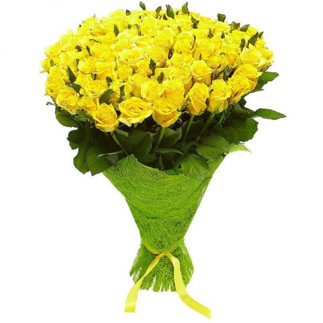 Подружкам невесты, большой букет желтых цветов