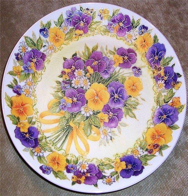 советов картинки тарелочки с цветами что