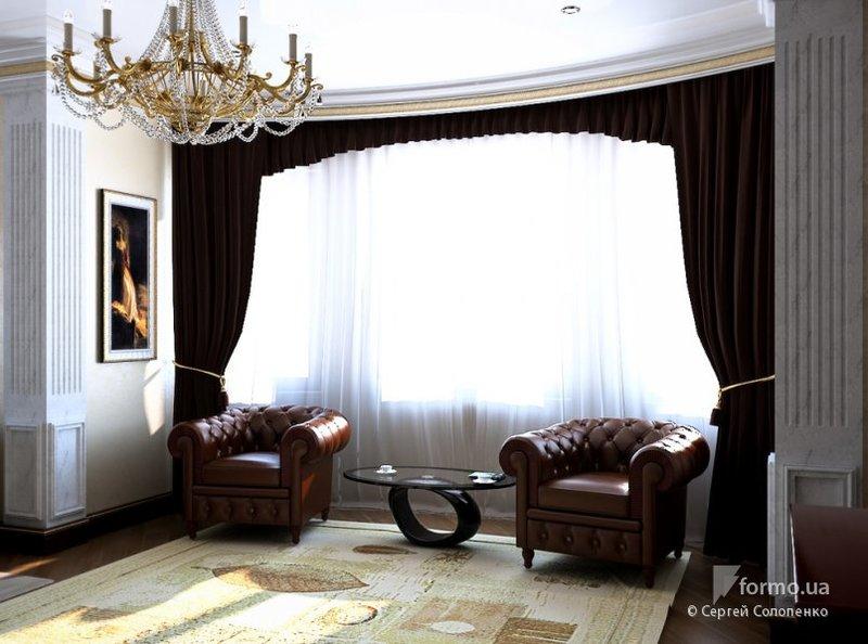 Два изысканы кожаных кресла в домашний кабинет