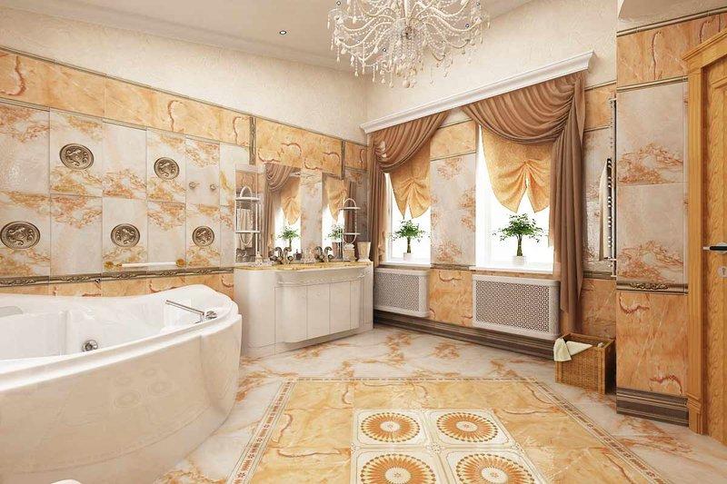 Ванная в стиле ампир должна быть просторной