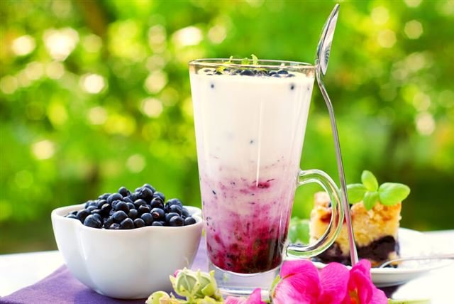 blueberry milkshake