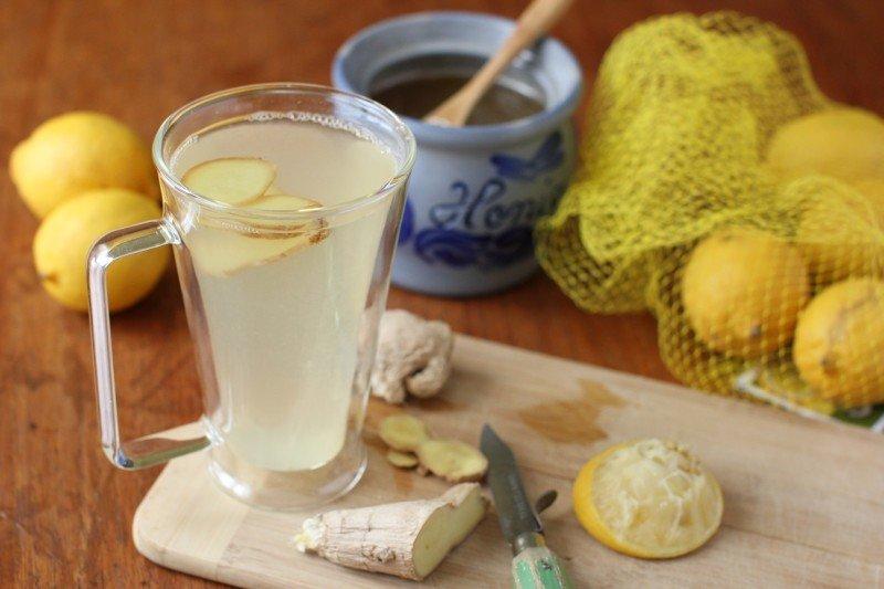 Фото согревающего чая с лимоном