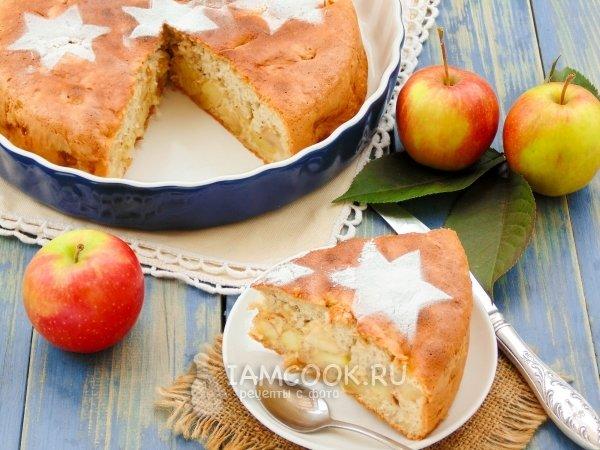 Рецепт пирога «Шарлотка» с яблоками в духовке