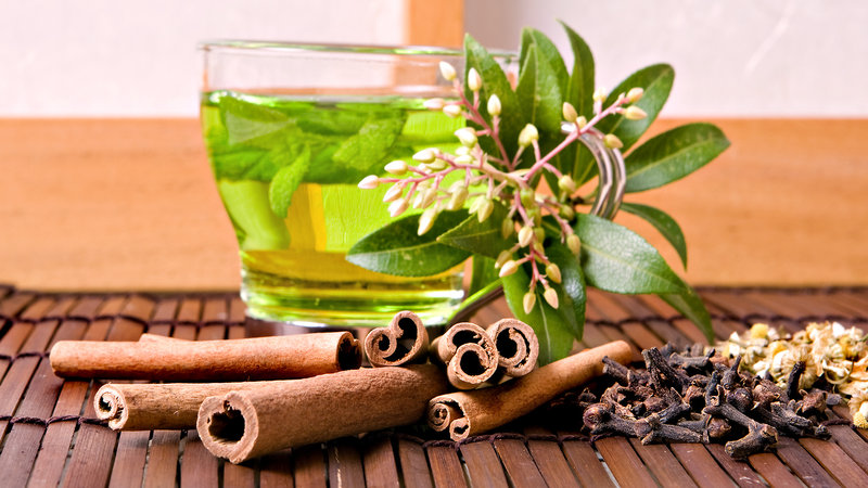 Зеленый чай - обои на рабочий стол 1920x1080 №777816