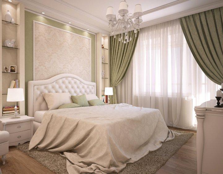 Кроме основного источника света в спальне должны быть прикроватные светильники. Чтобы выдержать стиль, они должны быть выполнены в одной манере с люстрой.