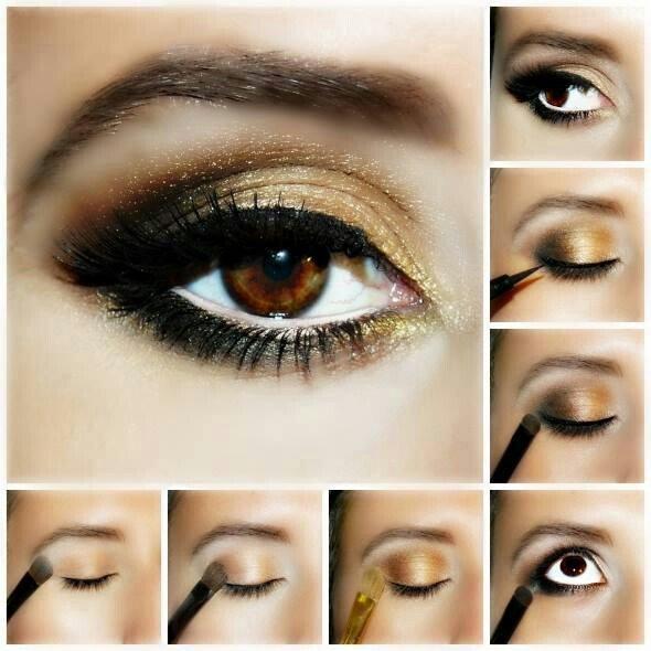 макияж для карих глаз на каждый день пошагово фото