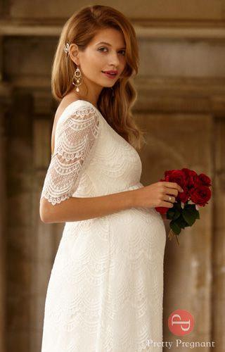 Свадебное платье для беременных - Верона Айвори – Pretty Pregnant