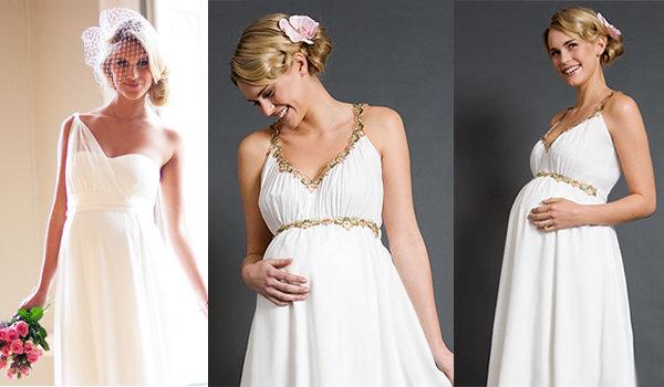 Свадебные платья для беременных: красивая мама