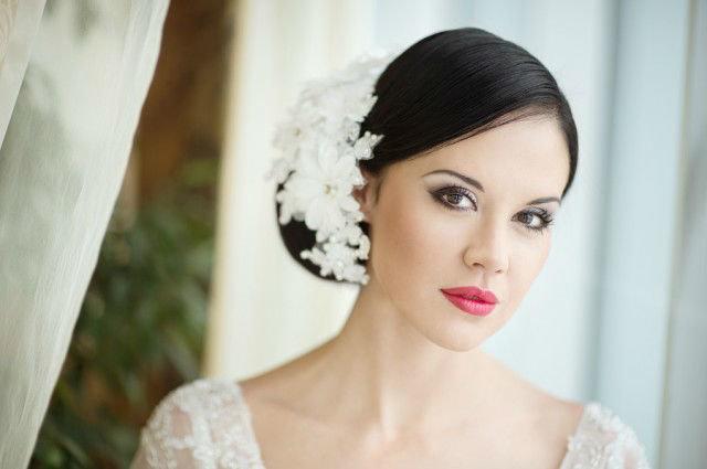 Свадебный макияж для карих глаз 23