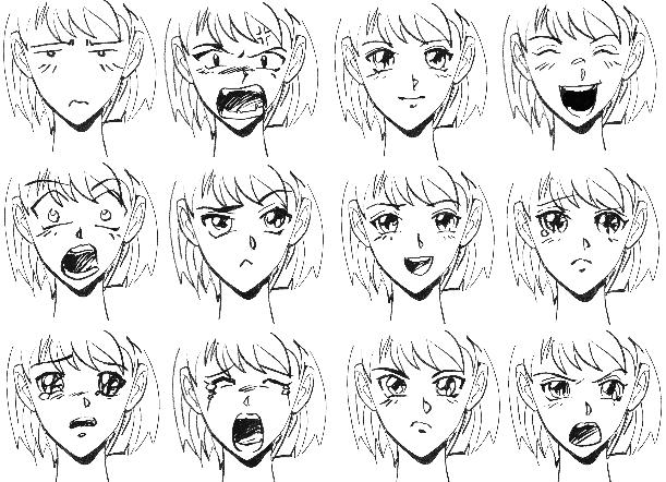 pobedpix.com / эмоции лица аниме