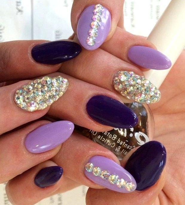 Дизайн ногтей фото фиолетового цвета