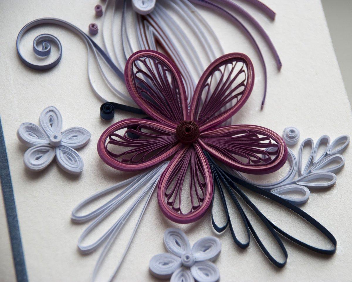 Днем, цветы в технике квиллинг для открытки