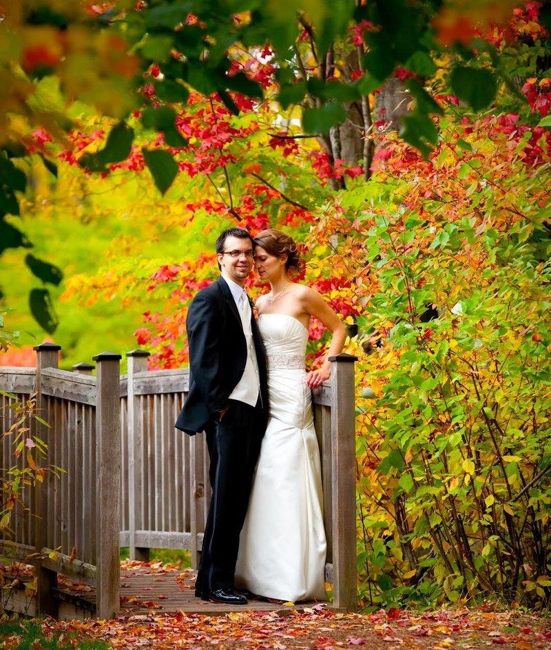 Осенняя свадьба в ярких красках