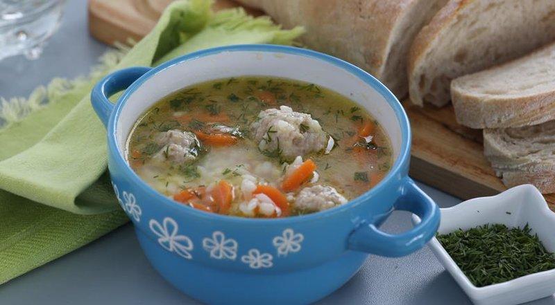 Фрикадельки рисом суп рецепт фото