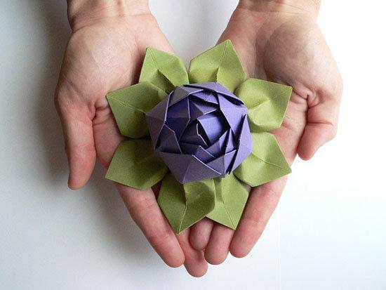 Цветок лотос оригами