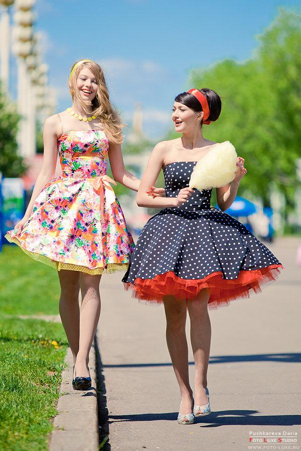 платья фото стиляги прически и