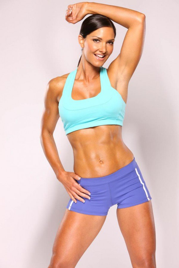 fitness model workout women card from user azaliyakondakova in