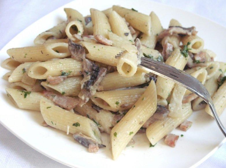 Макароны с грибами рецепт с фото пошагово