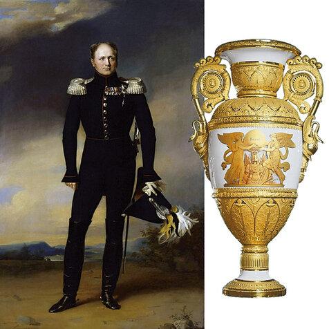 Фарфоровая ваза в стиле ампир