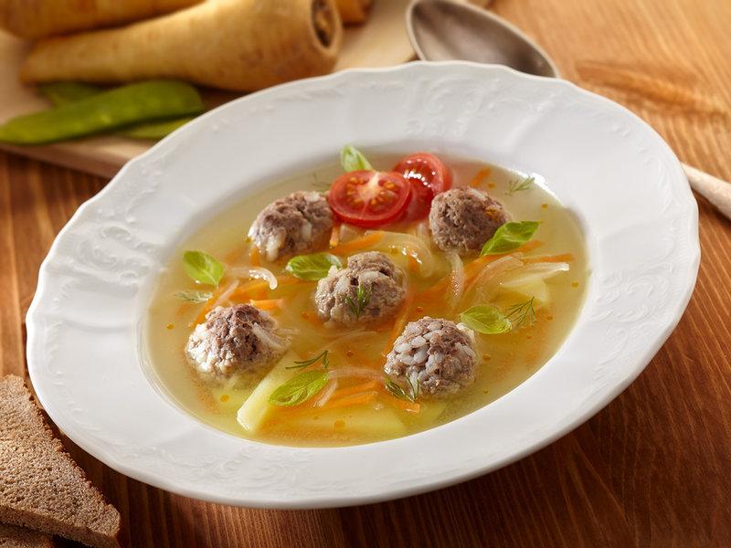 Суп с фрикадельками для му