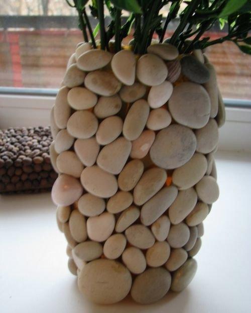 Стеклянный камень своими руками
