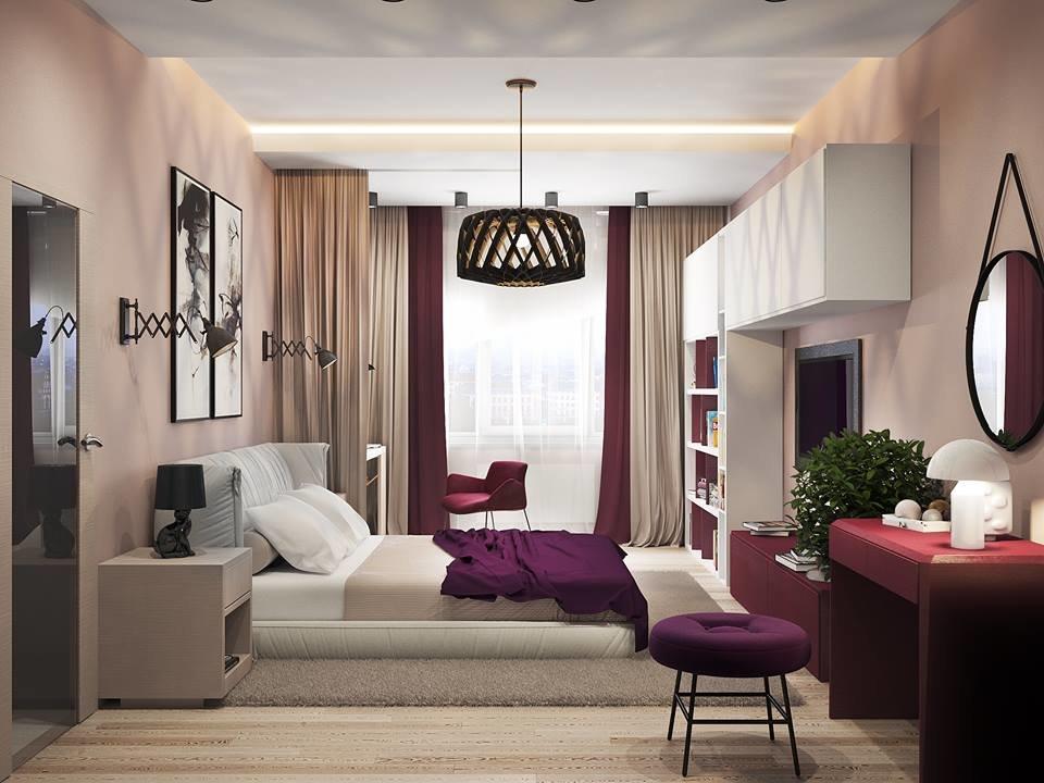 дизайн спальни для молодой пары фото арболита являются
