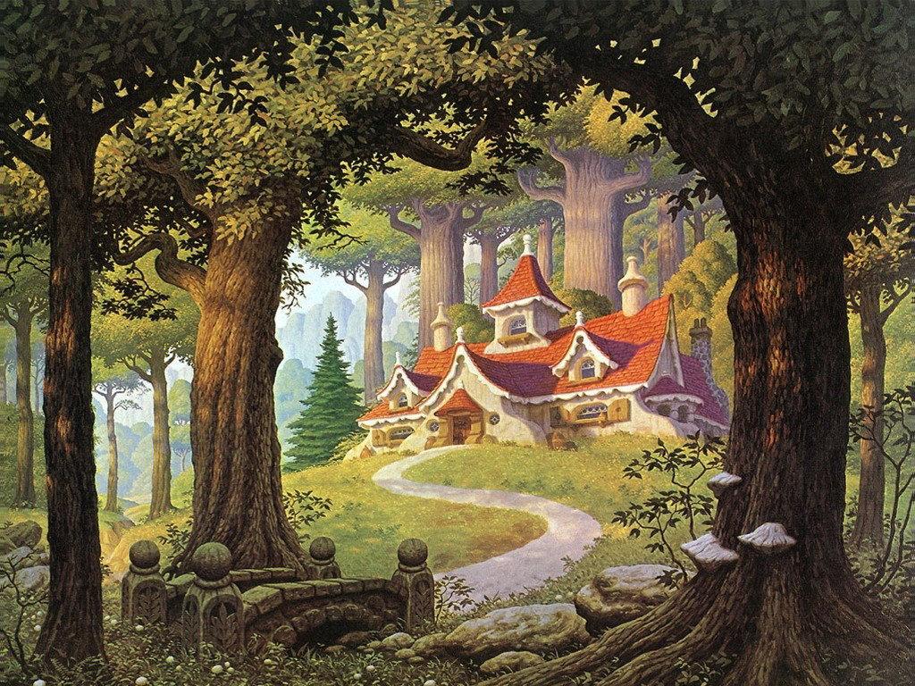 Фиксики, картинки сказочные домики дисней