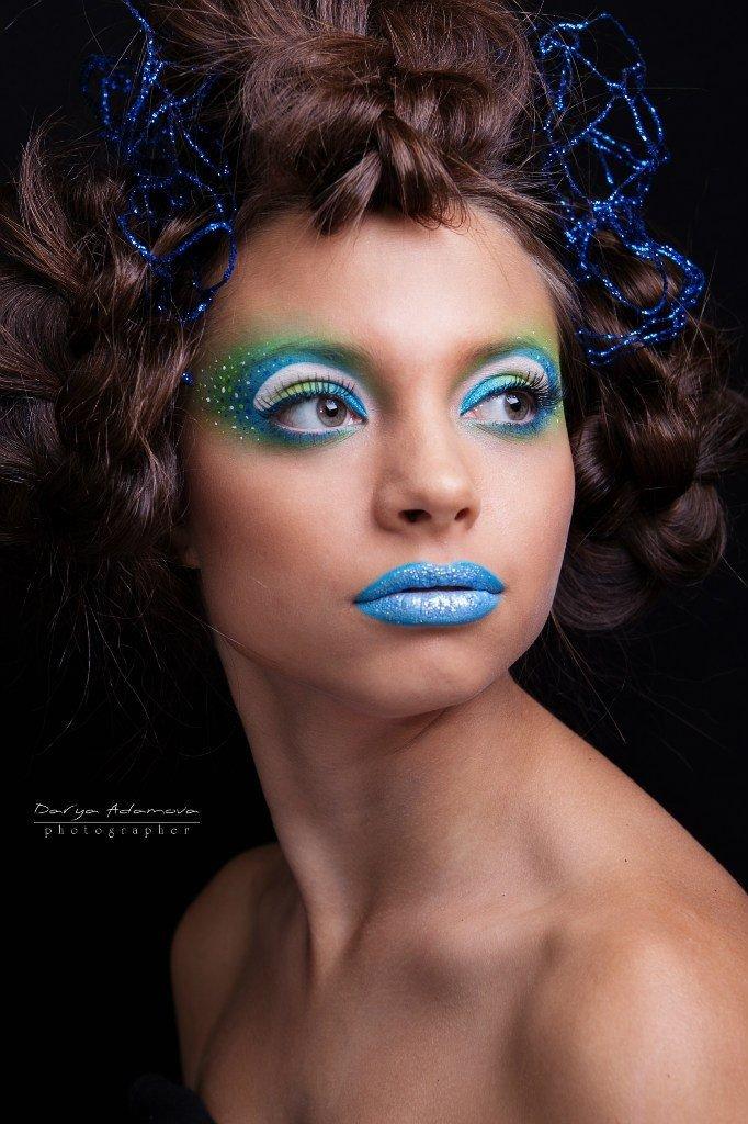 Яркий макияж на акварели