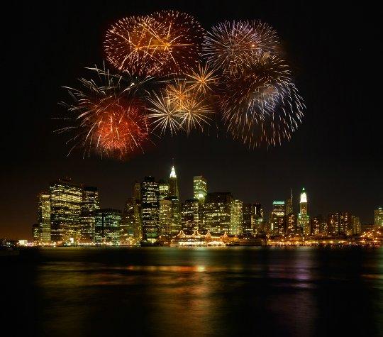 Встреча Нового года в Нью-Йорке (США) – фотографии, видео праздника, Новогодние гуляния в Нью-Йорке.